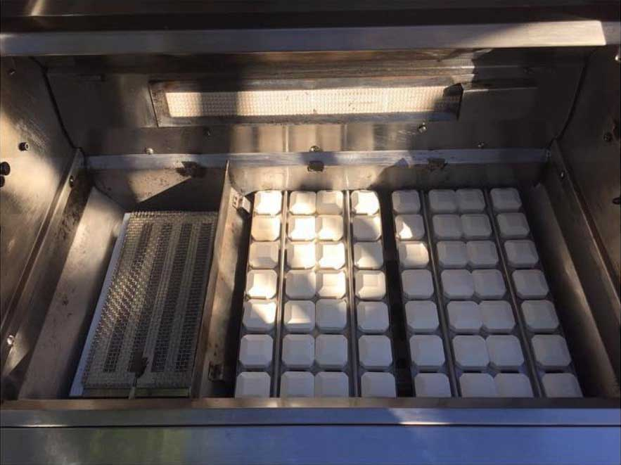 Ceramic Briquettes in a machine