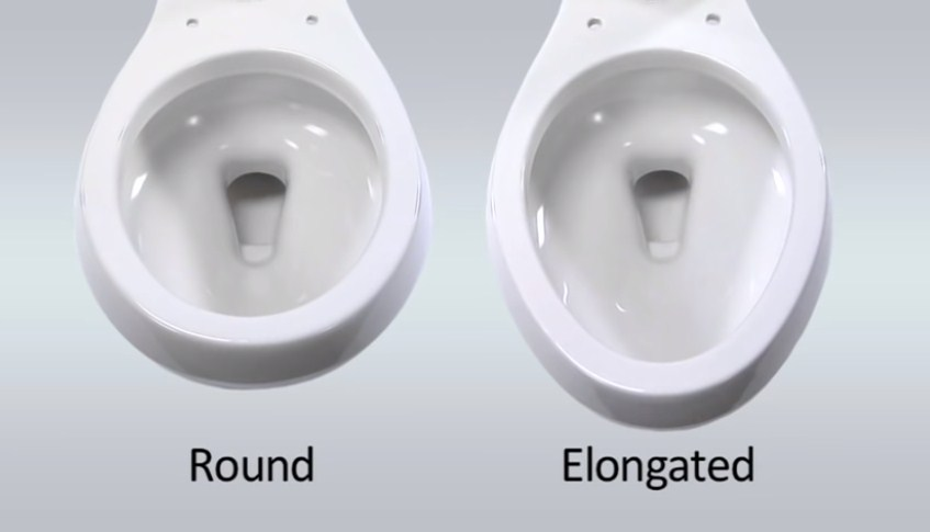 Different sizes of toilet seat