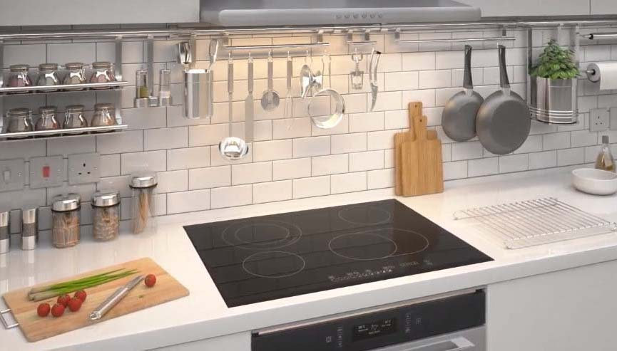 Elctric Cooktop perfectly positioned