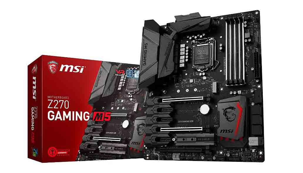 MSI Enthusiastic Gaming Intel Z270 DDR4 VR Ready HDMI USB 3 ATX Motherboard (Z270 GAMING M5)