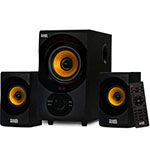 Best Computer Speaker Under 50 Dollar Acoustic Audio by Goldwood Bluetooth 2.1 Speaker System 2.1-Channel Home Theater Speaker System