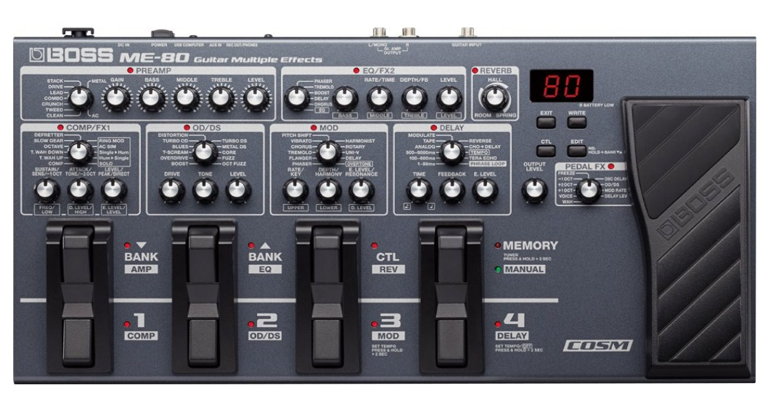Best One Boss ME-80 Multi-Effects Pedal REview