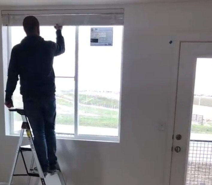 Installing cordless mini blinds