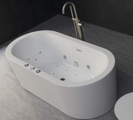 Water Jet and Air Bubble Freestanding Bathtub (67 x 32 inches)