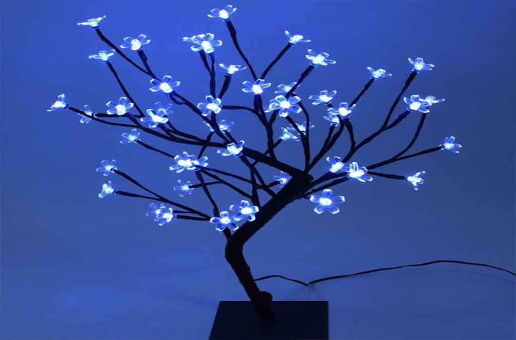 LED Lights, Cherry Blossom Bonsai Tree by Lightshare