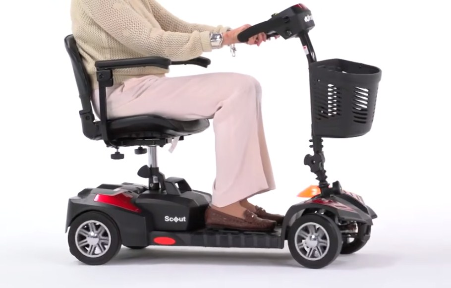 Drive Medical Scout Spitfire 4-EXT 4 Wheel Travel Power Best Mobility Scooter