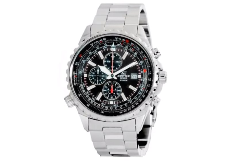 Casio Mens EF527D-1AV Edifice Stainless Steel Multi-Function Watch