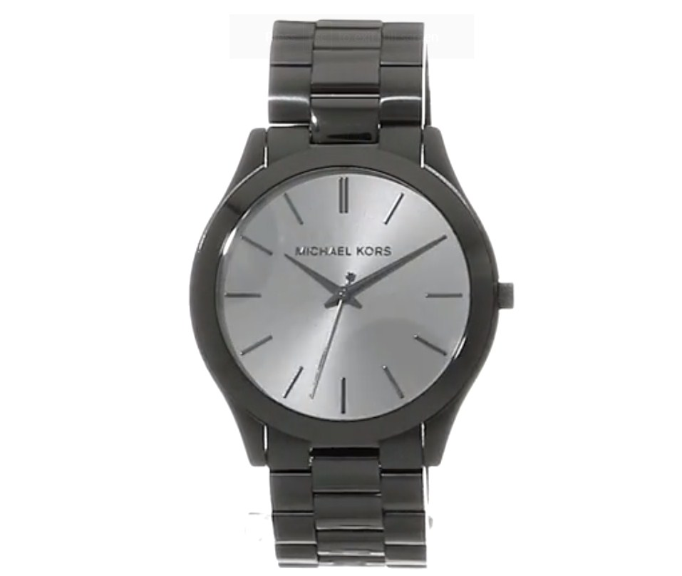 Michael Kors Mens Slim Runway Quartz Watch with Stainless Steel Strap