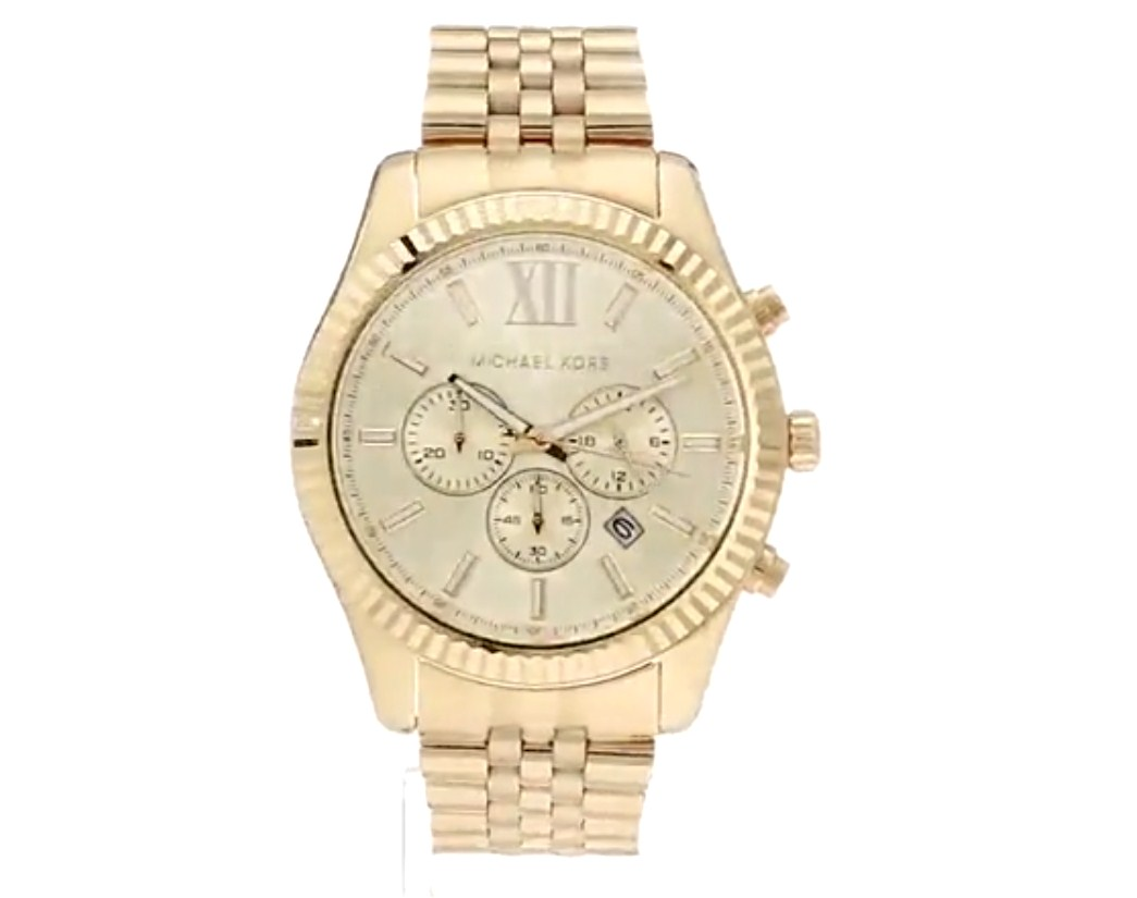 Michael Kors Lexington Mens Chronograph Wrist Watch